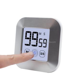 Touch Screen Digitale Di Allarme Magnetico Timer Da Cucina Per La  Cottura,Fitness,Bellezza,Conto Alla Rovescia - Buy Touch Screen Digitale Di  Allarme ...