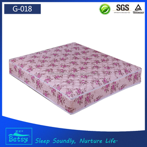 Bedroom furniture medical mattress pad in customized sizes and resilient bonnell spring