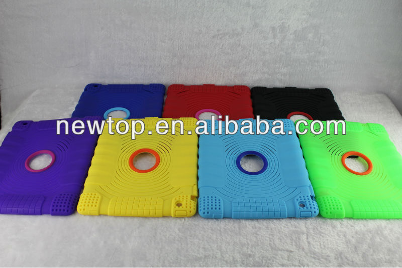 OEM ODM New design yellow Silicone case for Apple iPad 2/3