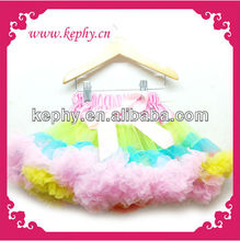 wholesale pettiskirts fluffy tutu pettiskirt rainbow pettiskirt