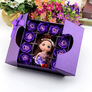 Custom Cute Teddy Gift Wrapping Gifts Boxes Soap Flowers