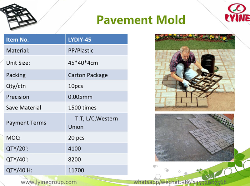 Diy Plastic Path Maker Moulds Manually Paving Cement Tile Stone ...