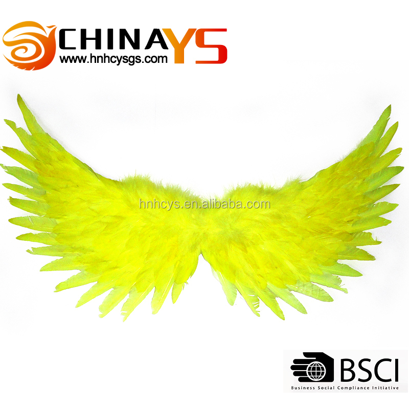 Yellow Color Fashion Carnival costume showgirl backpack cheap angel wings YS 8055