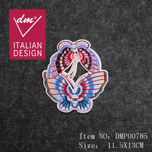 Beautiful Iron on butterfly embroidery patch custom for clothes