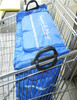 Shopping Trolley Wheeled Cart Black Bag Folding Basket Grocery