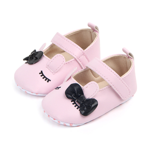 Beautiful baby girl shoes 2018 with bow decoration anti-slip baby dress shoes