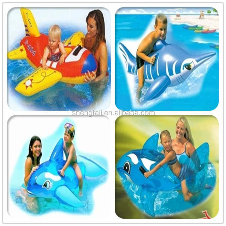 Efficient Water Play Equipment Summer Sport Inflatable Bestway 41087 Dolphin Pool Float Handle Animal Air Mat Kid Pool Toy Ride Gift Water Play Equipment