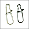 50pcs Hooked Snap Stainless Steel Fishing Barrel Swivel Safety Snaps Hook Lure Accessories Connector Snap Pesca