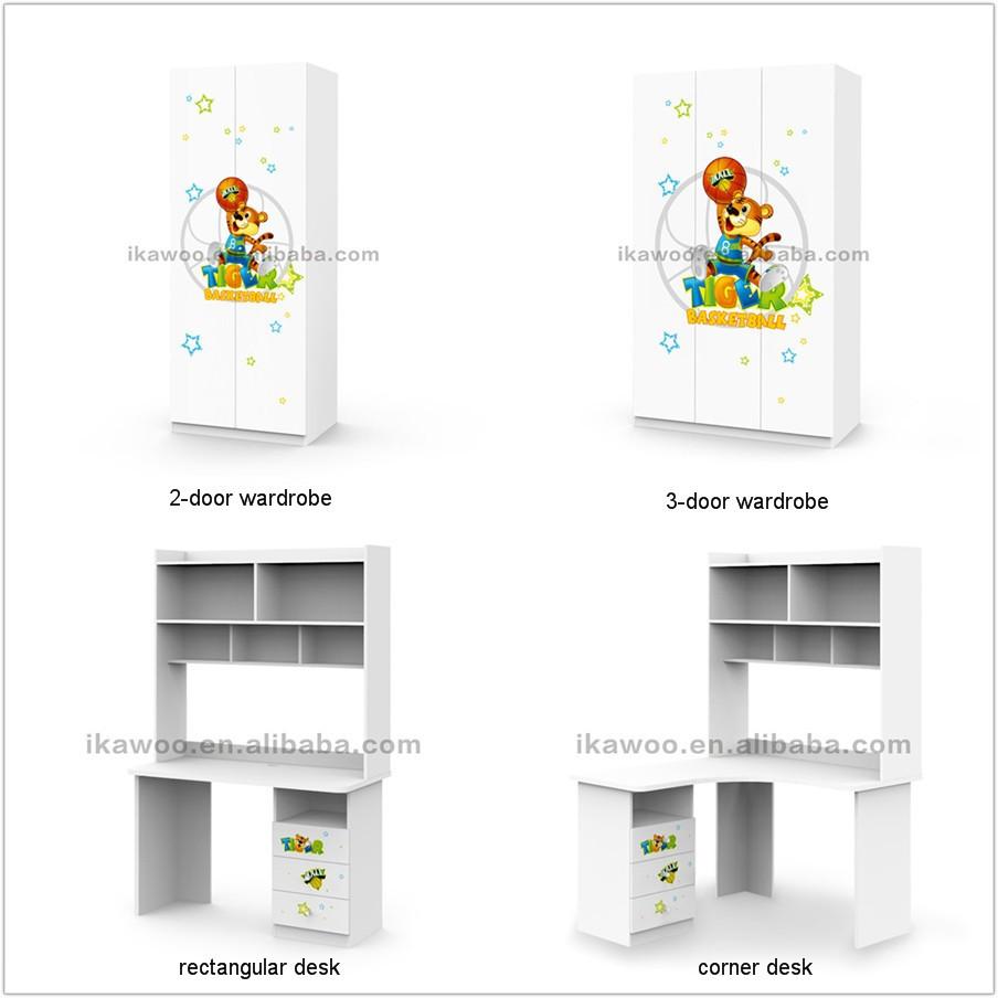 Ikazz Moderno Dibujos Animados Ni Os Dormitorio Litera Cama  # Muebles Dibujos Animados