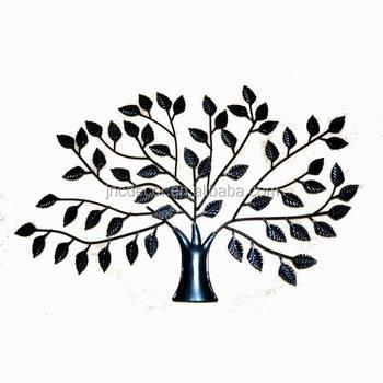 Décoration murale métal arbre