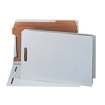 (3 Pack Value Bundle) SMD29820 Pressboard End Tab Classification Folder, Legal, 8-Section, Gray-Green