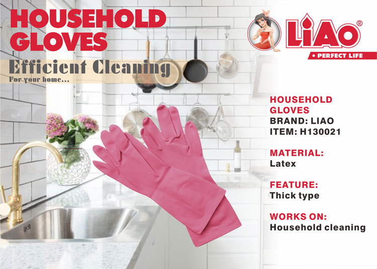 Latex household gloves LIAO with H130021
