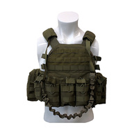 New Greencity Tactical Vest Carrier Attaching military Weapons With Pouch Military Use Protection Customized