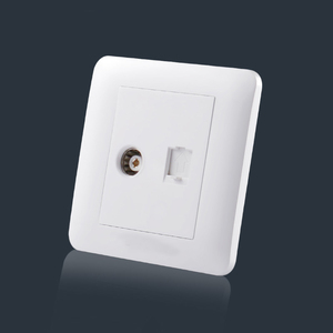 The square style extension power double pole tv wall plug socket