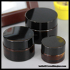 10g 20g 30g 50g Amber Round Cosmetic Cream Jar Glass Jar with Black Lid for Skincare Packaging