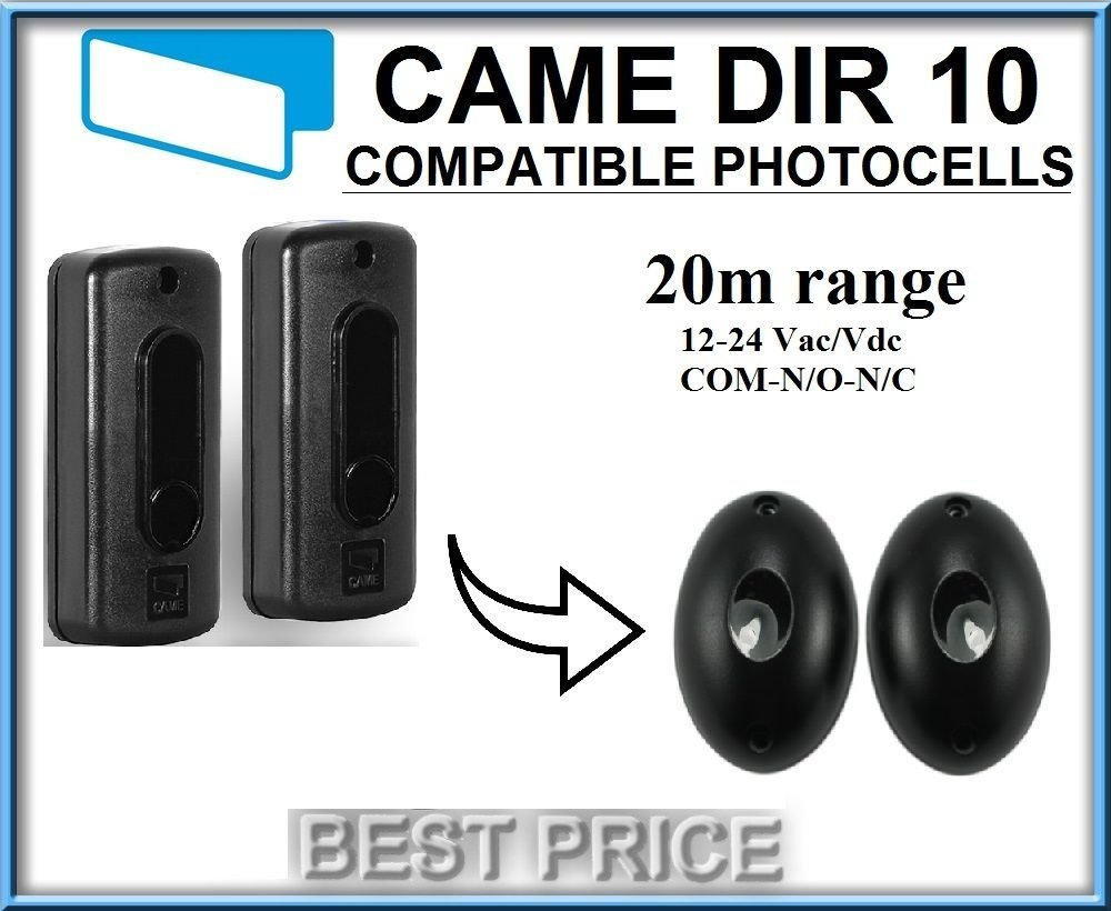 BFT Came 12-24v AC//DC Life DOORHAN Infrared photocells compatible with NICE