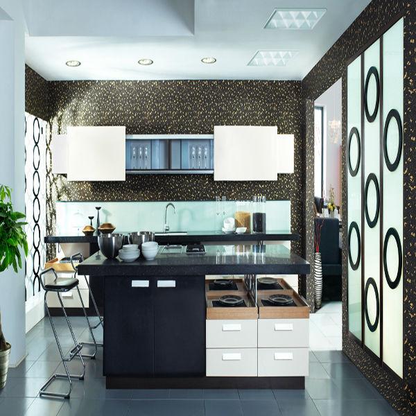 Gabinete de cocina de madera en diseño de moda para la venta ...