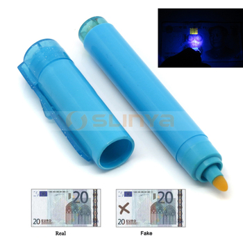 Uv Light Pouch Bag Check Money Scanner Invisible Logo Mark Pen