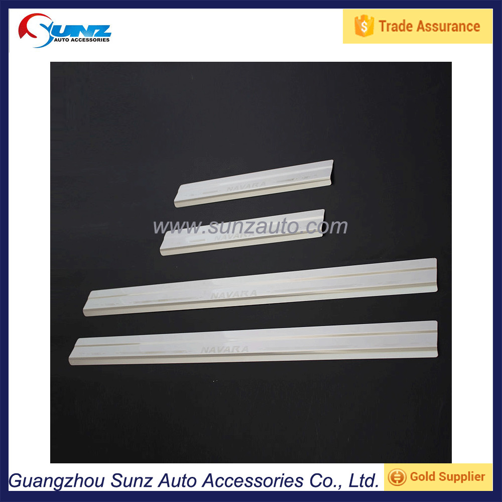 Door Sill Plate Foot Cover Stainless Steel For Nisan Navara Np300 2015 Accessories