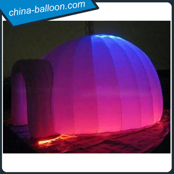 Lighting Inflatable Ice Dome Tent Up Air Igloo For Product On
