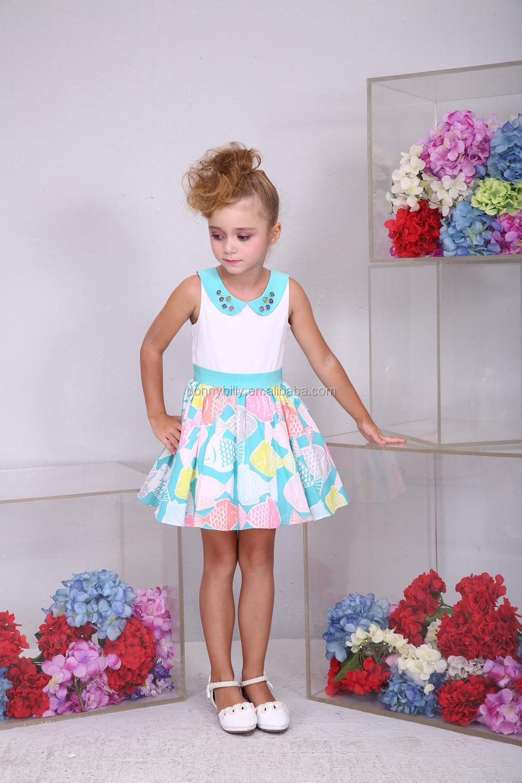 Bonny billy nieuwe zomer mode jurk voor meisjes 3 12 jaar kinderen katoenen jurken ontwerpen - Model kamer jongen jaar ...