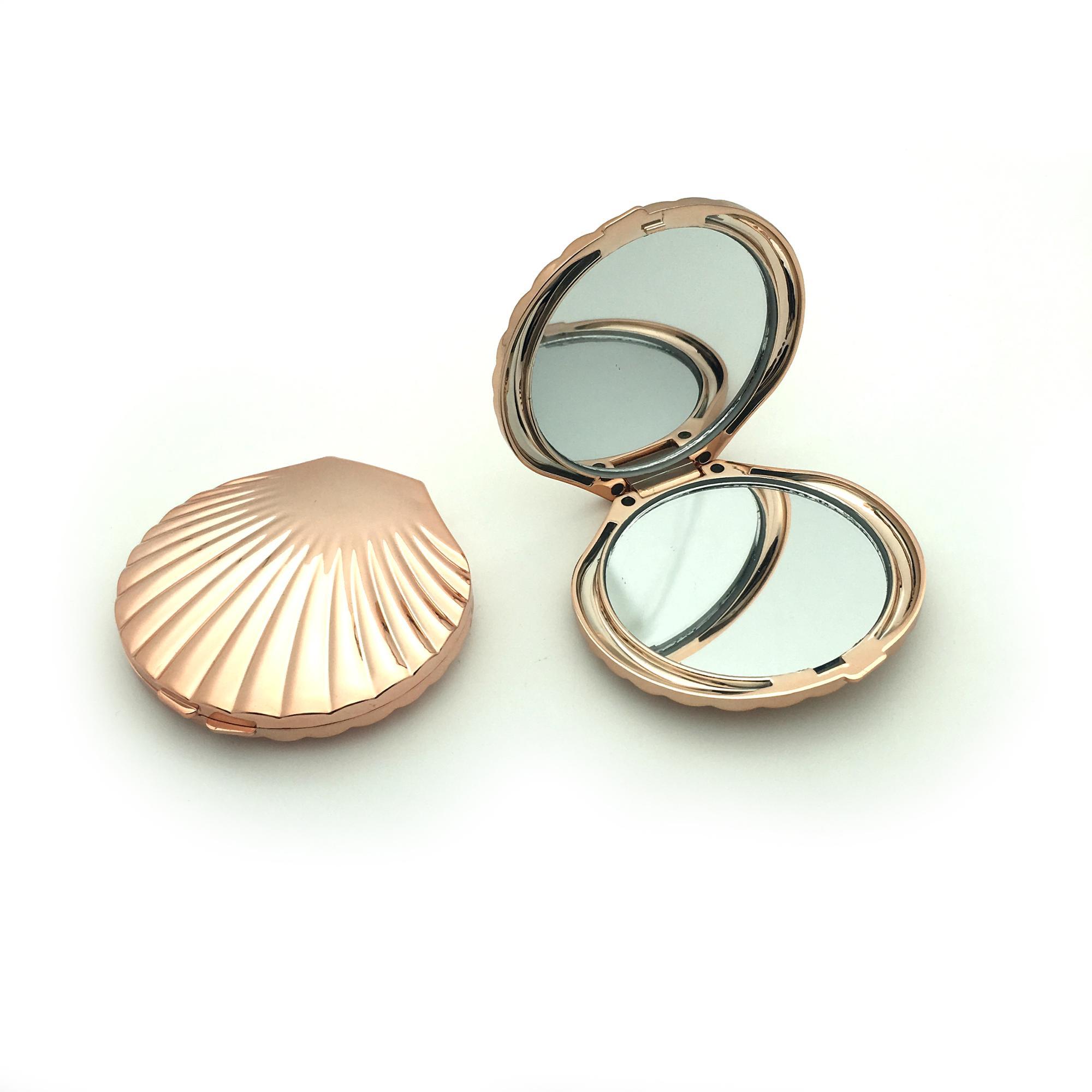 Rose gold color mermaid  pocket mirror compact makeup mirror