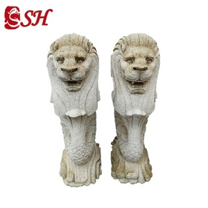 Outdoor Marble Merlion Statue For Sale