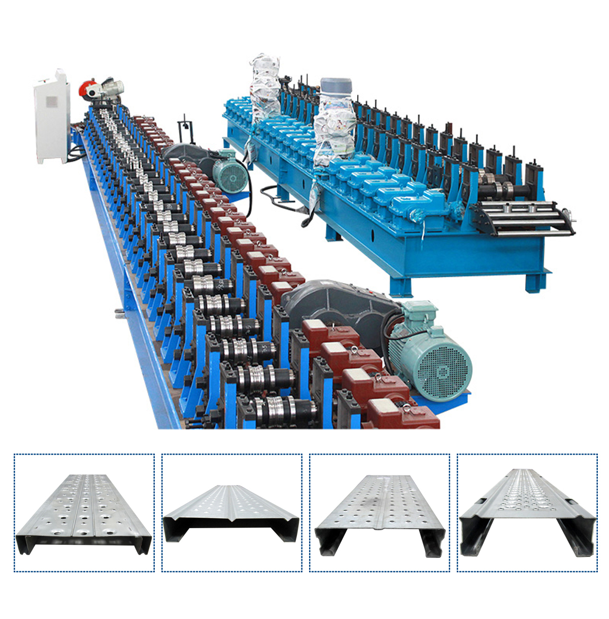 Auto Galvanized Aluminium Steel Walk Board Scaffold Plank Roll Forming Production Machine