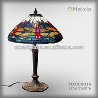 MX000014 iffany style table lamp imitation stained glass table lamp wholesale