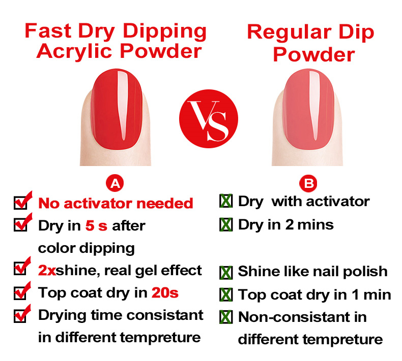 VW Oem Private Label Fast Dry Acrylic Powder Dipping Nails