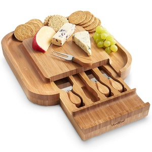 Kitchen High Quality Rice Husk Cutting Bamboo Chopping Cheese Board