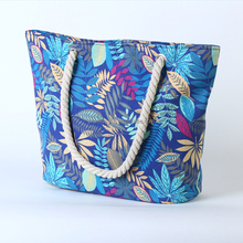 High quality wholesale maple leaves sports leisure charm multifunctional large capacity handbag canvas tote bag rope handle