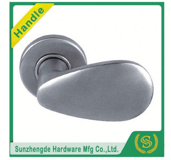 SFK-OO1SS Decorative Modern Double Curved Stainless Steel Large Door Handle