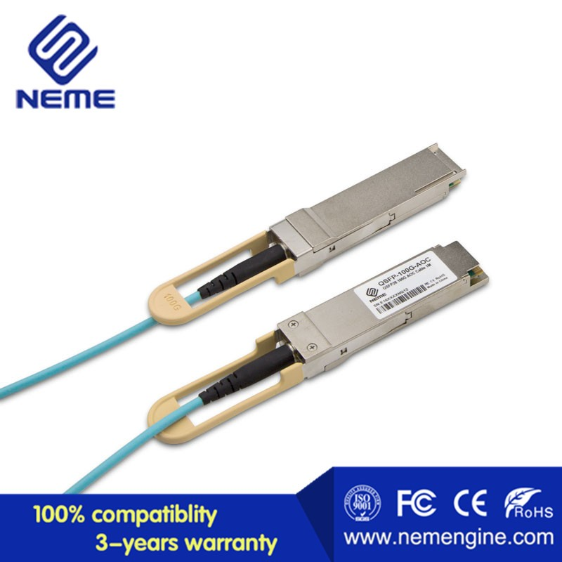 Cisco Compatible Qsfp-100g-aoc2m Qsfp 100g Active Optical Cable ...