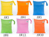 Waterproof Pul fabric Wet Bags double pocket Baby Cloth Diaper Bags