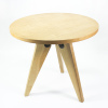 2019 Home furniture mdf top round table Gueridon wooden tea table jean prouve dining table