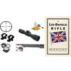 Ultimate Arms Gear Enfield Rifle Scope .303 NO.1 MK3 Rail Mount + 4x30 Mil Dot Scope + Scope Rings + Lens Covers + Lens Cleaning Kit + Lee-Enfield Technical Manual Book