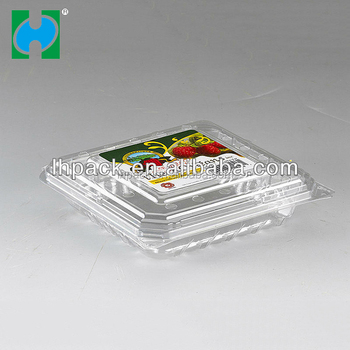 Economical durable use cheap disposable PET fruit container dishwasher safe