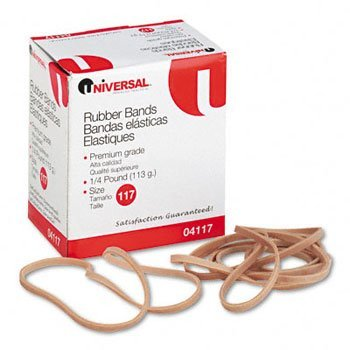 Universal Products - Universal - Rubber Bands, Size 117, 7 x 1/8, 53 Bands/1/4lb Pack - Sold As 1 Pack - General purpose rubber bands for home or office use.