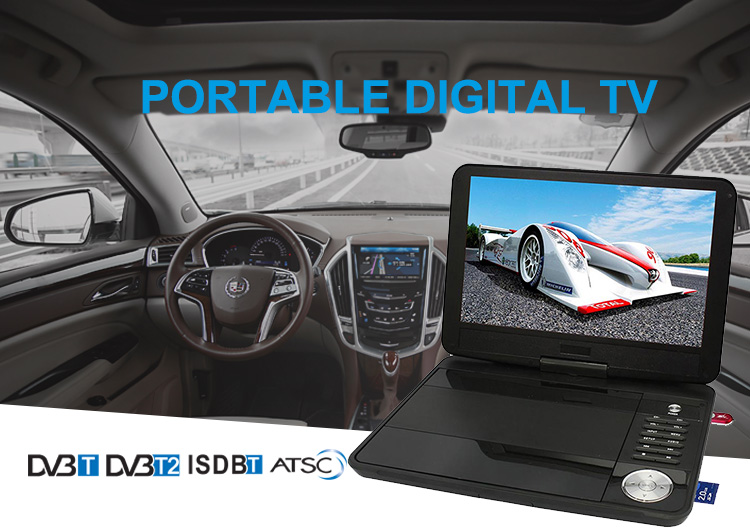 7 inch 9 inch 10 inch portable DVB-T2 Television with digital tv tuner