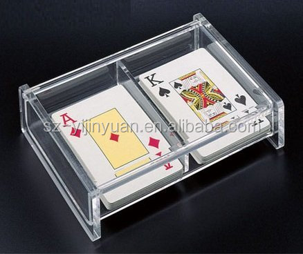 Magnetic Lid Acrylic Single Deck Playing Cards Deck Case
