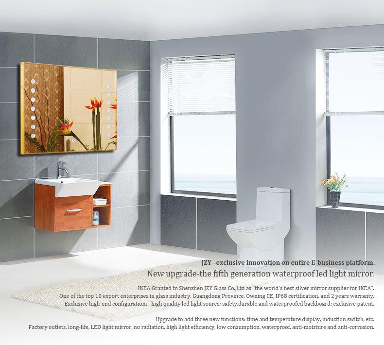 Bathroom Mirror Lights B&Q hollywood style modern bathroom mirror with lights built in at b&q