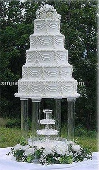 big acrylic cake stand cake stand with fountain for wedding buy