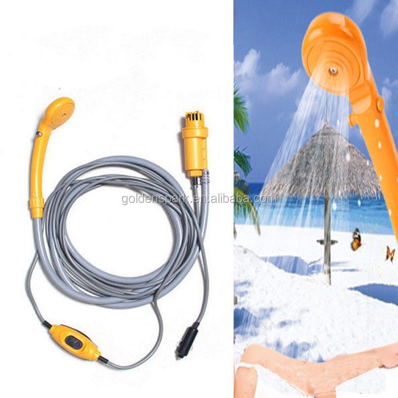Water Bags Alert Camping Shower Portable Shower Set Usb Car Shower Dc 12v Pump Pressure Shower Outdoor Camp Ducha Camping Pet Car Washer