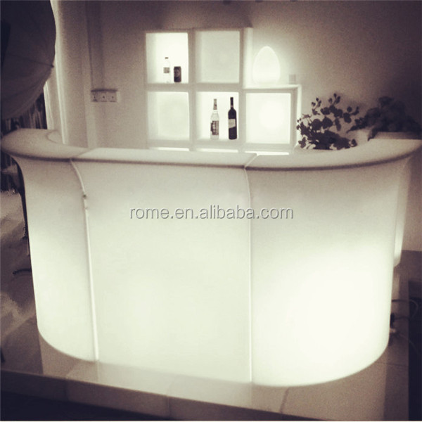 Wine Display Cabinet On Background Modern Led Home Bar Counter ...