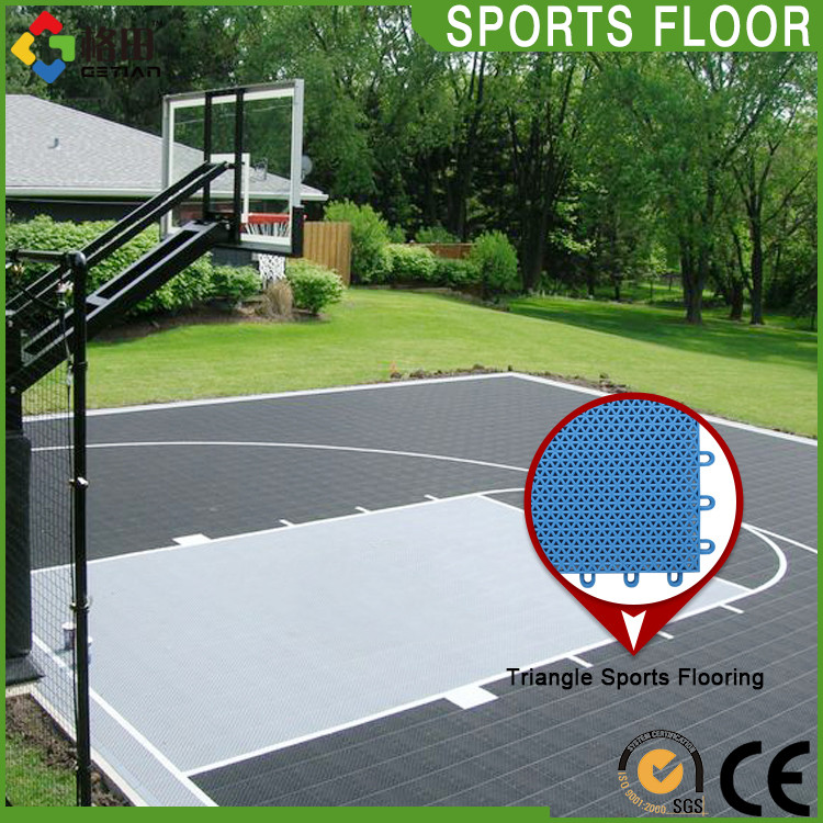 Multi Use Colorful Movable Interlocking Plastic Floor Tilesoutdoor