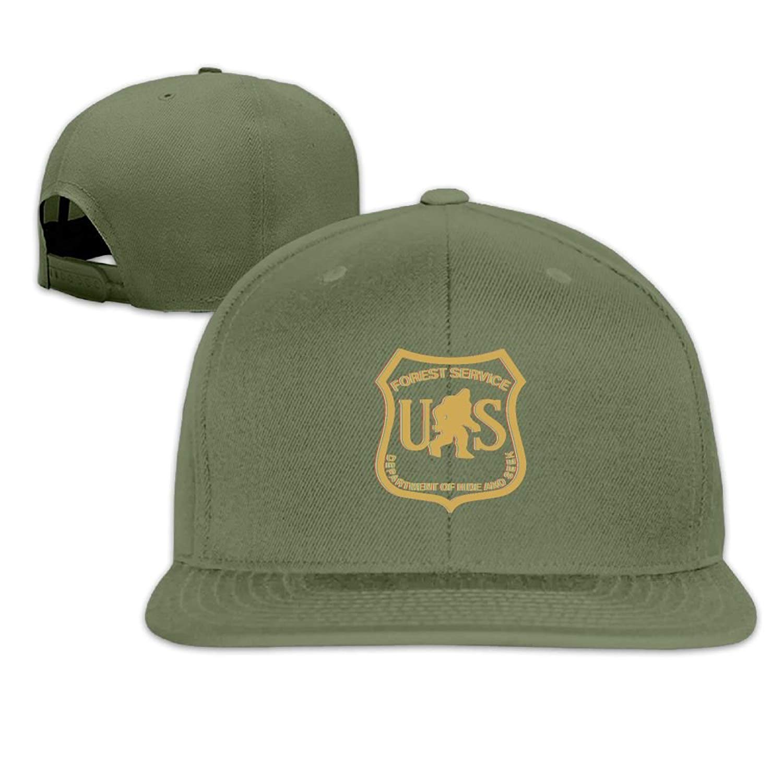 dc09541a34c Get Quotations · Vsricco Gold US Forest Service Bigfoot Dept Baseball Cap  Adjustable Trucker Hat Black