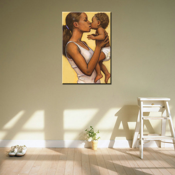 Canvas Portrait Oil African Woman Canvas Painting for Bedroom