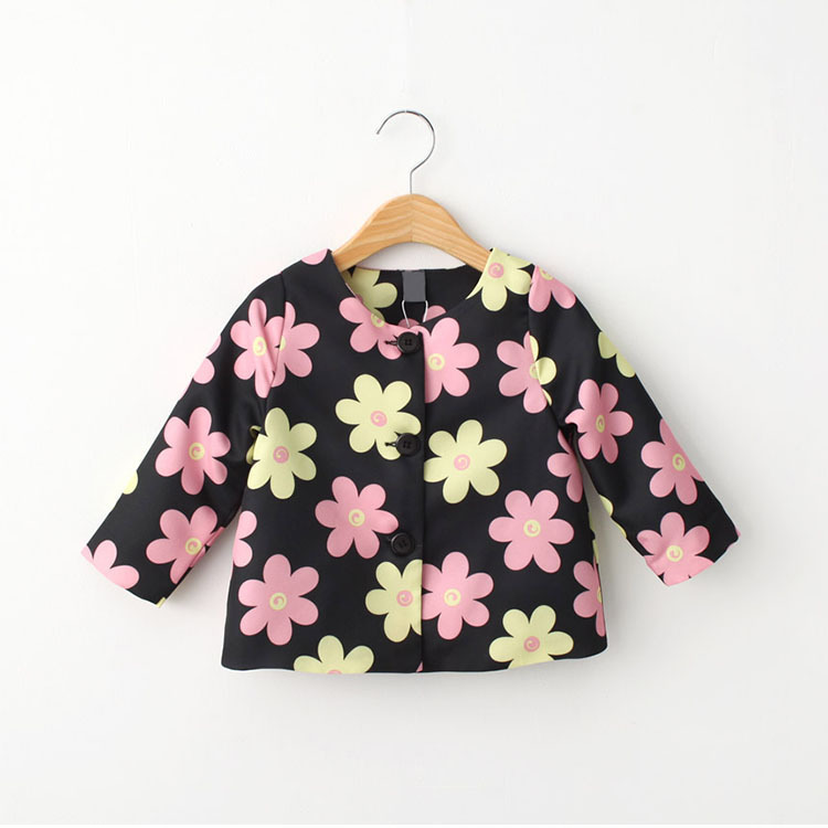 New 2015 child clothes,baby girls coat spring autumn,fashion flowers girls jackets and coats winter,kids outerwear coat