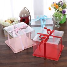 Clear Plastic Window Birthday Cake Box Packing Box